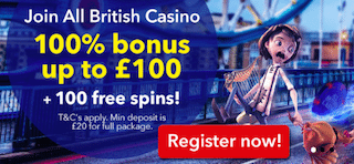 best UK casino deposit match bonus