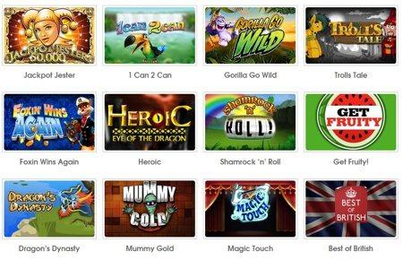 Top UK Online Slot Spiele