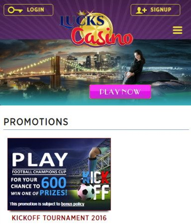 Play Games at Lucks Casino