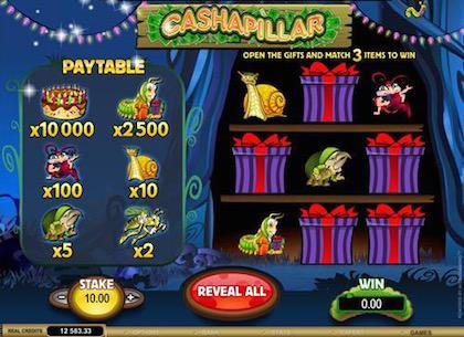 Scratch Cards Online - Cashapillar 1
