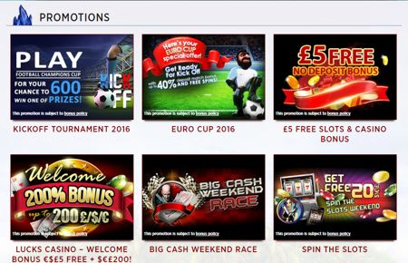 lucks casino deposit promo