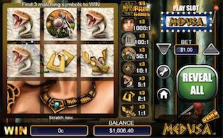 Medusa Free Online Casino Scratch Card